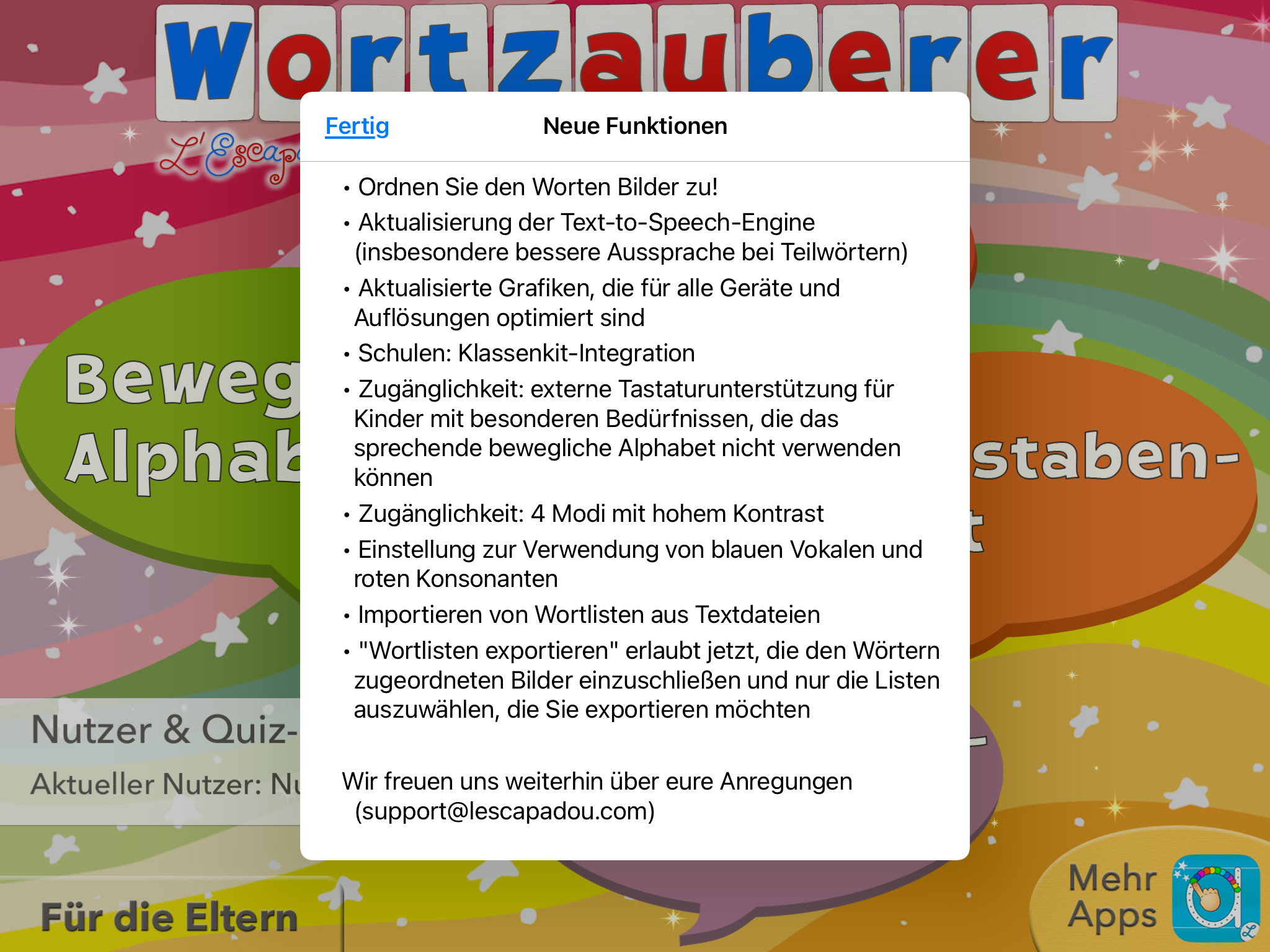 Read more about the article Update des Wortzauberers